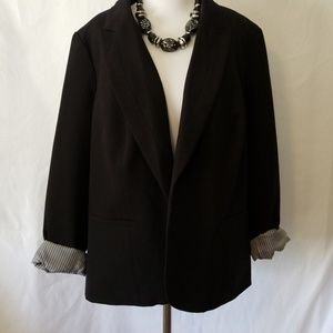 Worthington Black Fitted Blazer Plus 2X